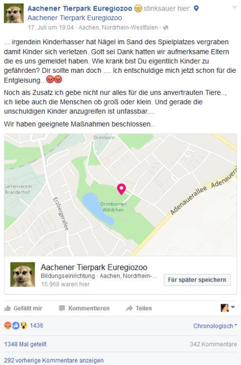Aachener Tierpark Euregiozoo Facebook
