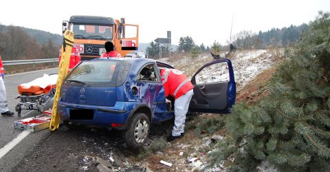 Autounfall Kl 480 Polizei