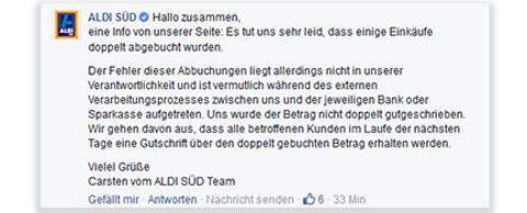 Facebook Aldi Sued
