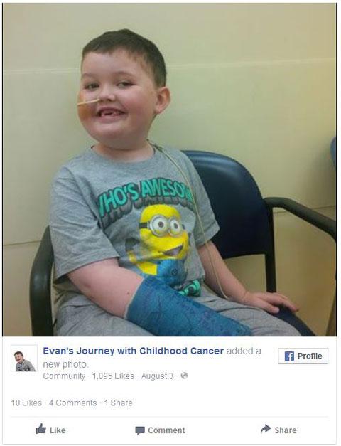 Facebook Evans Journey With Childhood Cancer
