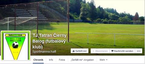Facebook Tj Tatran Cierny Balog