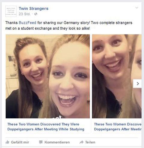 Facebook Twinstrangers
