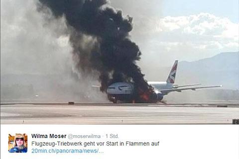 Flugzeug Rauch01 480