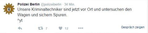 Reaktion Unfall Berlin Twitter