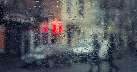 Regenverschwommen