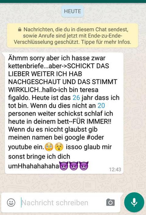 Whatsapp Fragen Kettenbrief