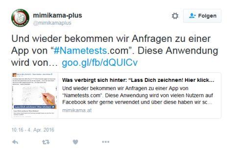 Twitter Mimikamaplus