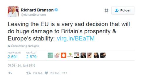 Twitter Richard Branson